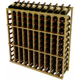 Vintner Commercial 10 Column Merchandiser W/Individual Bottle Rails - Pine, Black