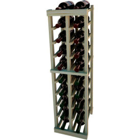 Individual Bottle Wine Rack - 2 Columns, 4 ft high - Unstained Pine