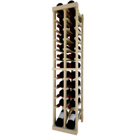 Individual Bottle Wine Rack - 2 Column W/Lower Display, 4 ft high - Unstained Pine