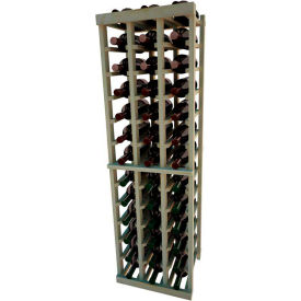 Individual Bottle Wine Rack - 3 Columns, 4 ft high - Unstained Pine