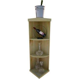 Bulk Storage, Quarter-Round Wine Bottle Shelf, 4-Shelf, 4 Ft high - Unstained Pine