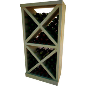 Diamond Solid Cube Wine Rack - w/Face Trim, 4 ft high - Unstained Pine