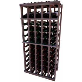Individual Bottle Wine Rack - 5 Column W/Top Display, 4 ft high - Mahogany, Mahogany