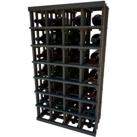 Individual Bottle Wine Rack - Magnum Bottle, 4 ft high - Mahogany, Mahogany