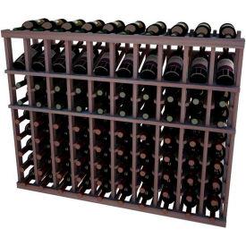 Individual Bottle Wine Rack - 10 Columns, 4 ft high - Walnut, Mahogany