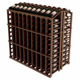 Vintner Commercial Island W/Individual Bottle Rails -  Mahogany, Walnut