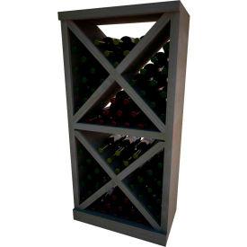Diamond Solid Cube Wine Rack - w/Face Trim, 4 ft high - Walnut, Mahogany