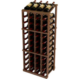 Vintner Commercial 4 Column Merchandiser W/Individual Bottle Rails -  Mahogany, Light