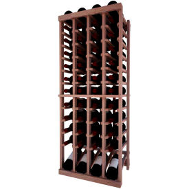 Individual Bottle Wine Rack - 4 Column W/Lower Display, 4 ft high - Light, Mahogany