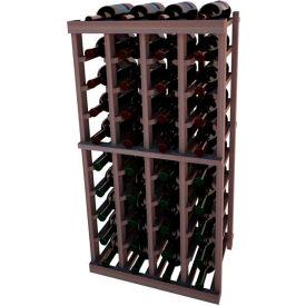 Individual Bottle Wine Rack - 4 Columns, 4 ft high - Black, Mahogany