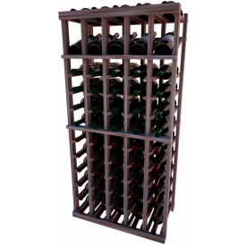 Individual Bottle Wine Rack - 5 Column W/Top Display, 4 ft high - Black, Mahogany