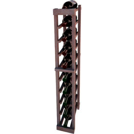 Individual Bottle Wine Rack - 1 Column, 4 ft high - Unstained Mahogany