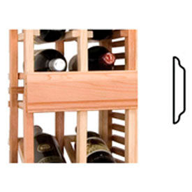 Vintner Series Finish Option, Center Seam Strip, Curved - Unstained Mahogany