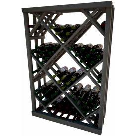 Diamond Bin Wine Rack - 4 ft high - Unstained Mahogany