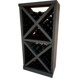 Diamond Solid Cube Wine Rack - w/Face Trim, 4 ft high - Unstained Mahogany