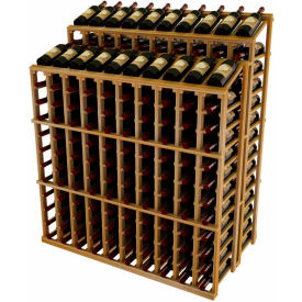 Vintner Commercial DD Merchandiser W/Individual Bottle Rails -  Redwood, Mahogany