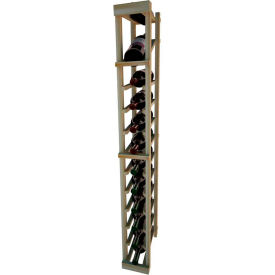 Individual Bottle Wine Rack - 1 Column W/Top Display, 4 ft high - Mahogany, Redwood