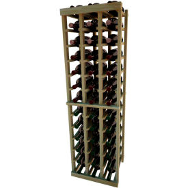 Individual Bottle Wine Rack - 3 Columns, 4 ft high - Mahogany, Redwood