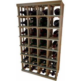 Individual Bottle Wine Rack - Magnum Bottle, 4 ft high - Mahogany, Redwood