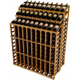 Vintner Double Deep  Merchandiser W/Individual Bottle Rails & 3 Display Rows -  Redwood, Walnut