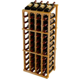 Vintner Commercial 4 Column Merchandiser W/Individual Bottle Rails -  Redwood, Walnut