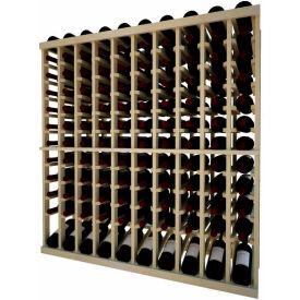Individual Bottle Wine Rack - 10 Column W/Lower Display, 4 ft high - Walnut, Redwood