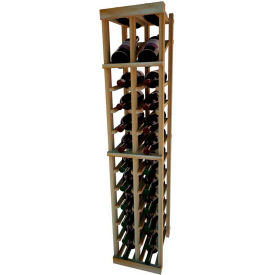 Individual Bottle Wine Rack - 2 Column W/Top Display, 4 ft high - Walnut, Redwood
