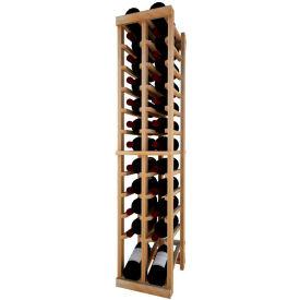 Individual Bottle Wine Rack - 2 Column W/Lower Display, 4 ft high - Walnut, Redwood