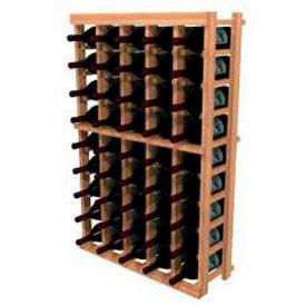 Individual Bottle Wine Rack - 5 Columns, 4 ft high - Walnut, Redwood