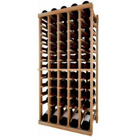 Individual Bottle Wine Rack - 5 Column W/Lower Display, 4 ft high - Walnut, Redwood