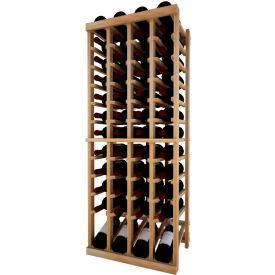 Individual Bottle Wine Rack - 4 Column W/Lower Display, 4 ft high - Light, Redwood