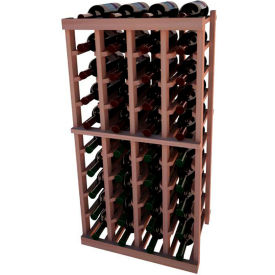 Individual Bottle Wine Rack - 4 Columns, 3 ft high - Mahogany, All-Heart Redwood