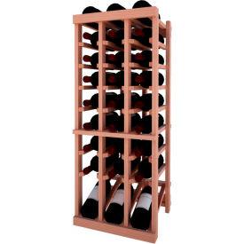 Individual Bottle Wine Rack - 3 Column W/Lower Display, 3 ft high - Light, All-Heart Redwood