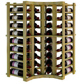 Individual Bottle Wine Rack - Curved Corner, 3 ft high - Mahogany, Pine