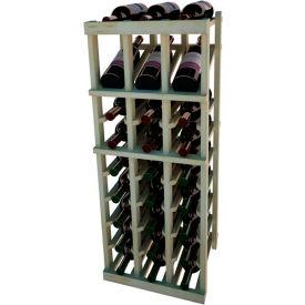 Individual Bottle Wine Rack - 3 Column W/Top Display, 3 ft high - Black, Pine