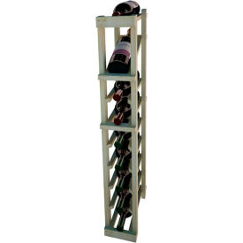 Individual Bottle Wine Rack - 1 Column W/Top Display, 3 ft high - Unstained Pine