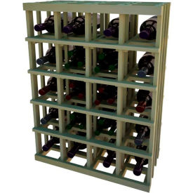Individual Bottle Wine Rack - Magnum Bottle, 3 ft high - Unstained Pine