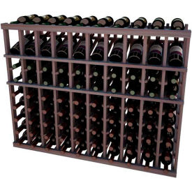 Individual Bottle Wine Rack - 10 Columns, 3 ft high - Mahogany, Mahogany