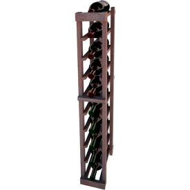 Individual Bottle Wine Rack - 1 Column, 3 ft high - Walnut, Mahogany