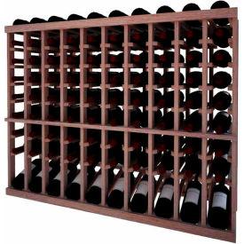 Individual Bottle Wine Rack - 10 Column W/Lower Display, 3 ft high - Walnut, Mahogany
