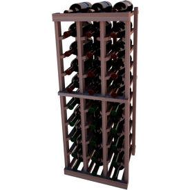 Individual Bottle Wine Rack - 3 Columns, 3 ft high - Walnut, Mahogany