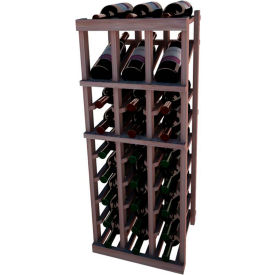 Individual Bottle Wine Rack - 3 Column W/Top Display, 3 ft high - Walnut, Mahogany