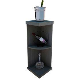Bulk Storage, Quarter-Round Wine Bottle Shelf, 3-Shelf, 3 Ft high - Black, Mahogany