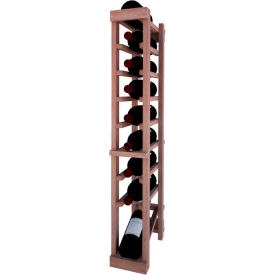 Individual Bottle Wine Rack - 1 Column W/Lower Display, 3 ft high - Unstained Mahogany
