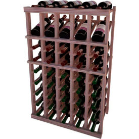 Individual Bottle Wine Rack - 5 Column W/Top Display, 3 ft high - Unstained Mahogany