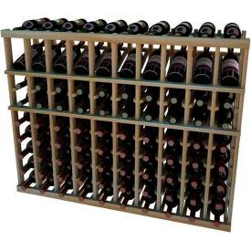 Individual Bottle Wine Rack - 10 Columns, 3 ft high - Light, Redwood