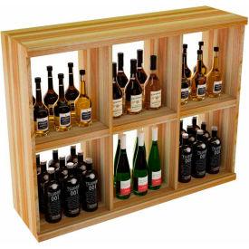 Bulk Storage, Stackable Wine Bottle Shelf, 6-Opening 3 Ft high - Unstained Redwood