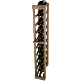 Individual Bottle Wine Rack - 1 Column, 3 ft high - Unstained Redwood