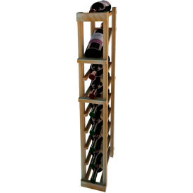 Individual Bottle Wine Rack - 1 Column W/Top Display, 3 ft high - Unstained Redwood