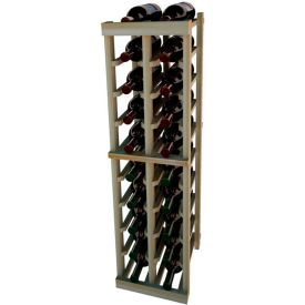 Individual Bottle Wine Rack - 2 Columns, 3 ft high - Unstained Redwood